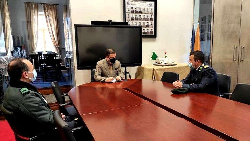 Novo comandante da GNR foi recebido na Câmara Municipal