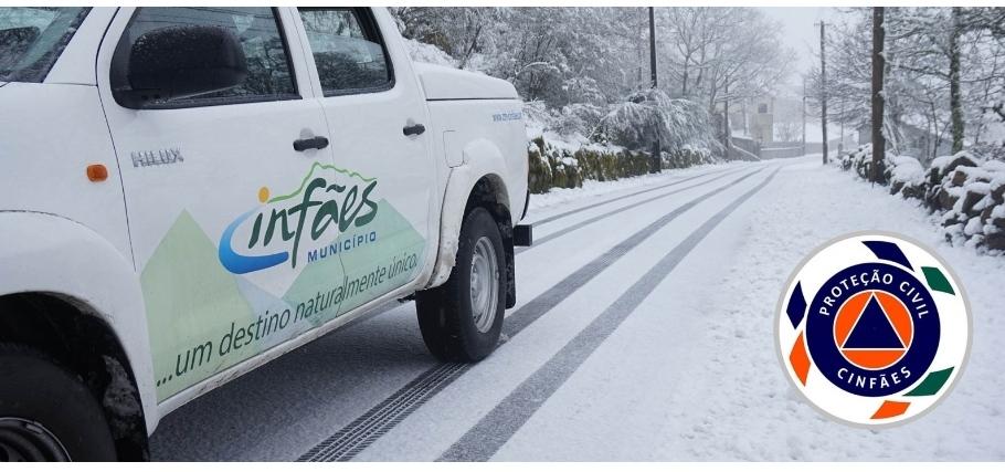 Município de Cinfães alerta para a queda de neve