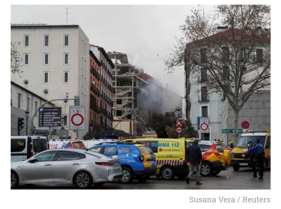 Pelo menos três mortos em explosão de gás no centro de Madrid