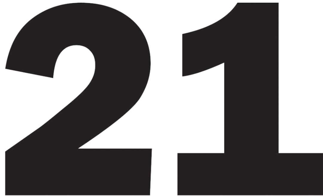 Hoje foi o dia do número 21